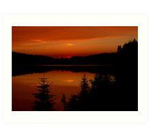 Sunset on Brewer Lake, Algonquin Park Art Print