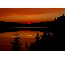 Sunset on Brewer Lake, Algonquin Park Photographic Print