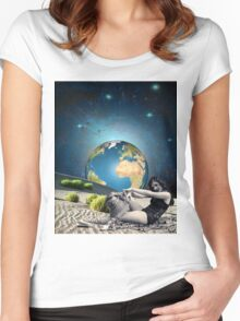 Earth bathing Women's Fitted Scoop T-Shirt