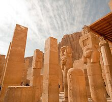 At Temple of Hapshepsut in Thebes Egypt by Ren Provo