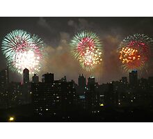 Independence Day fireworks in New York City Photographic Print