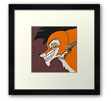 Crazy Fox Framed Print