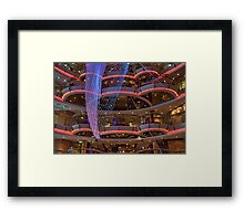 In the Centrum of Radiance of the Seas Framed Print