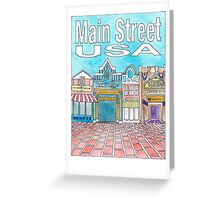 Main Street USA Greeting Card