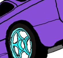 240 sx drawing Sticker