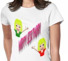 A Happy Birthday T-shirt for Girls Womens Fitted T-Shirt