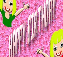 A Happy Birthday card for Girls by Dennis Melling