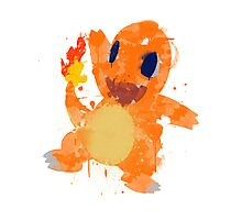 Graffiti Charmander Photographic Print