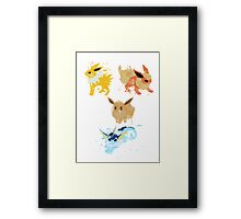 Graffiti Eeveelution, First Gen Framed Print