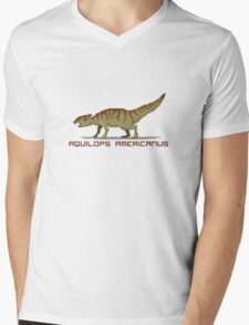 Pixel Aquilops Mens V-Neck T-Shirt