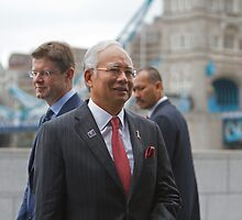 The Prime Minister of  Malaysia at City Hall London by Keith Larby