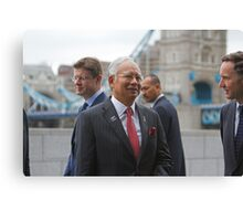 The Prime Minister of  Malaysia at City Hall London Canvas Print