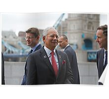 The Prime Minister of  Malaysia at City Hall London Poster