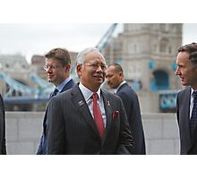 The Prime Minister of  Malaysia at City Hall London Photographic Print