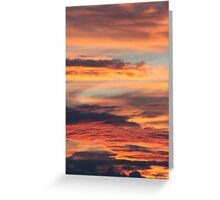 Summer sunset in Hedmark, Norway Greeting Card