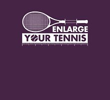 Enlarge Your Tennis-White Womens Fitted T-Shirt