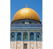 Dome of the Rock in Temple Mount Photographic Print