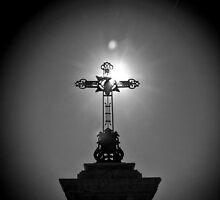 Sun Kissed Cross by KarenLindale