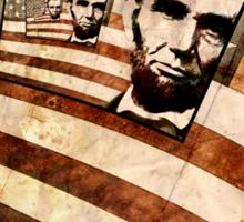 President Abraham Lincoln Patriotic Flag Sticker
