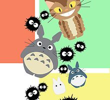 Totoro and Friends by ldamarysl