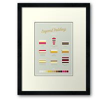 Layered Puddings Framed Print