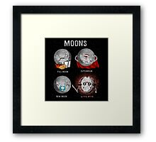 Supermoon Characters Framed Print