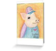 Turkey Bacon Greeting Card