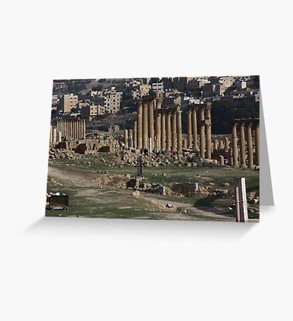 Roman Road in Jerash Jordan Greeting Card