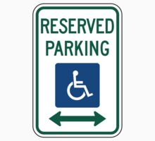 Reserved Parking For Wheelchairs by SignShop