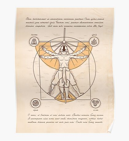 Vitruvian Aang Poster