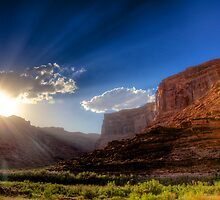 Canyon Sunset by njordphoto