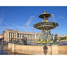 Place de la Concorde, Paris, France Photographic Print