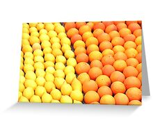 Lemons and oranges Greeting Card