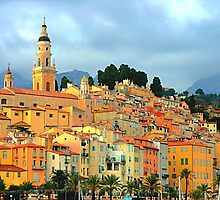Menton village, south of France by gianliguori