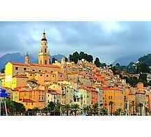 Menton village, south of France Photographic Print