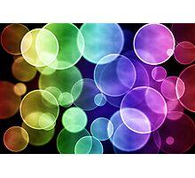 Colorful circular bokeh Photographic Print