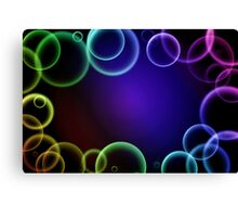 Colorful bubbles in a frame Canvas Print