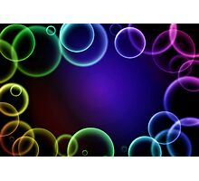 Colorful bubbles in a frame Photographic Print