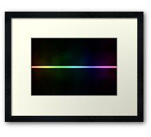 Colorful line background Framed Print