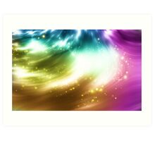 Abstract background with colorful lights Art Print
