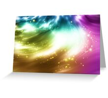 Abstract background with colorful lights Greeting Card