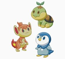 Pokemon Starters - Gen 4 by TipsyKipsy