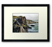 Carrick-a-Rede Rope Bridge Framed Print