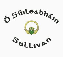 Sullivan Surname 2 - Light Shirts with Claddagh by Mike Collins