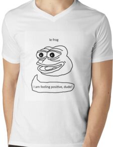 Le Frog Mens V-Neck T-Shirt