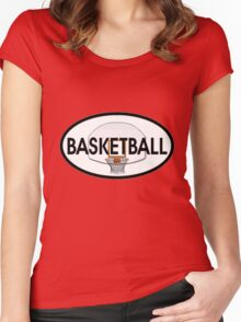 Basketball Oval Women's Fitted Scoop T-Shirt
