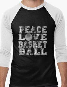 Peace, Love, Basketball Men's Baseball ¾ T-Shirt