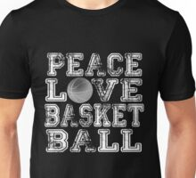 Peace, Love, Basketball Unisex T-Shirt