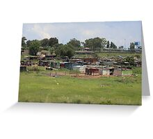 Soweto Sprawl from the Road Greeting Card