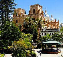Parque Calderon, Cuenca, Ecuador by Al Bourassa